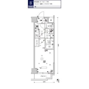 1K Mansion in Itabashi - Itabashi-ku Floorplan