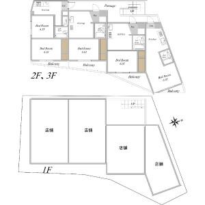 Whole Building {building type} in Benten - Chiba-shi Chuo-ku Floorplan