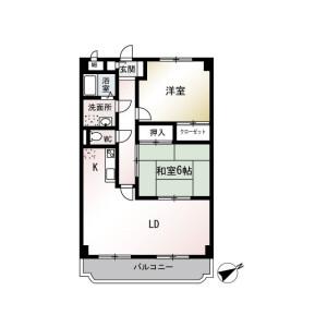 横浜市戸塚区前田町-2LDK公寓大厦 楼层布局