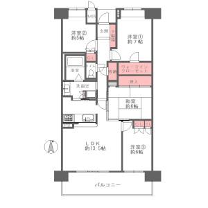 4LDK {building type} in Shinsenri higashimachi - Toyonaka-shi Floorplan