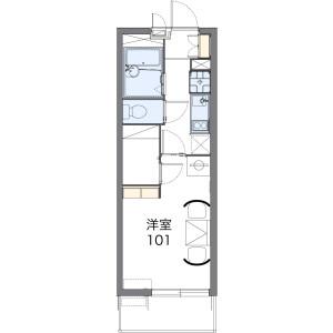 1K Mansion in Mozunishinocho - Sakai-shi Kita-ku Floorplan