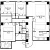 在港区内租赁3LDK 公寓 的 楼层布局