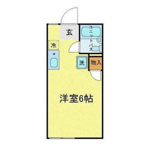 1R Apartment in Komazawa - Setagaya-ku Floorplan