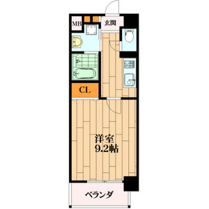 1K Mansion in Tamakushimotomachi - Higashiosaka-shi Floorplan