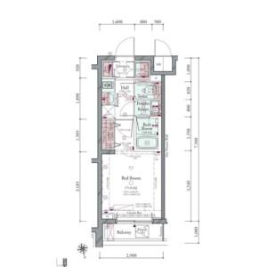 品川区南大井-1K{building type} 楼层布局
