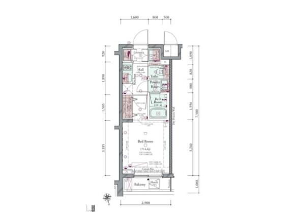 1K Apartment to Buy in Shinagawa-ku Floorplan
