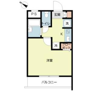 练马区豊玉北-1K公寓大厦 楼层布局