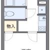 在横浜市南区内租赁1K 公寓大厦 的 楼层布局
