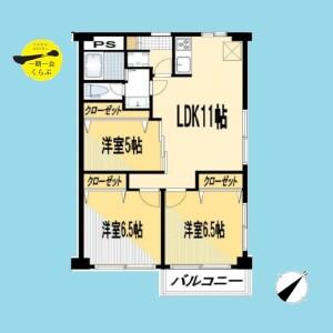 3LDK {building type} in Kamiitabashi - Itabashi-ku Floorplan