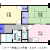 2DK Apartment to Rent in Osaka-shi Sumiyoshi-ku Floorplan