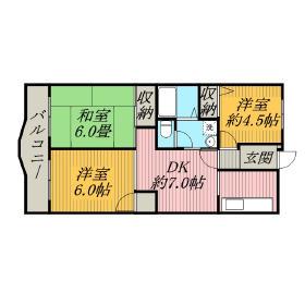 千葉市稲毛區稲毛東-3DK公寓大廈 房間格局