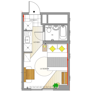 1R Apartment in Nishihara - Shibuya-ku Floorplan