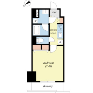江東區佐賀-1K公寓大廈 房間格局