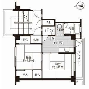 2K Mansion in Shodai minamimachi - Hirakata-shi Floorplan