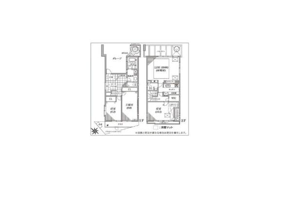 3LDK House to Rent in Suginami-ku Floorplan