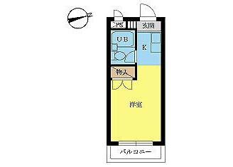 1R Apartment to Rent in Hachioji-shi Floorplan