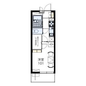 1K Mansion in Nishishigacho - Nagoya-shi Kita-ku Floorplan
