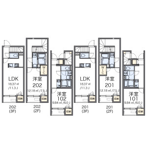 1LDK Apartment in Takinogawa - Kita-ku Floorplan