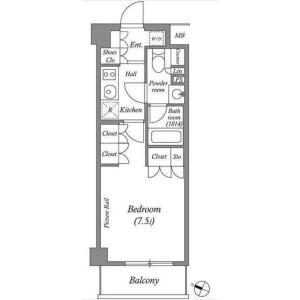 豊島区 - 西池袋 大厦式公寓 1K 楼层布局