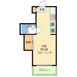 1K Mansion in Daizawa - Setagaya-ku Floorplan