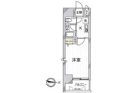 1K Apartment to Buy in Osaka-shi Higashiyodogawa-ku Interior