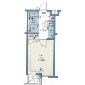 1K Mansion in Takaidonishi - Suginami-ku Floorplan