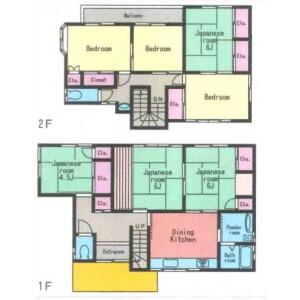 7DK House in Koyabe - Yokosuka-shi Floorplan