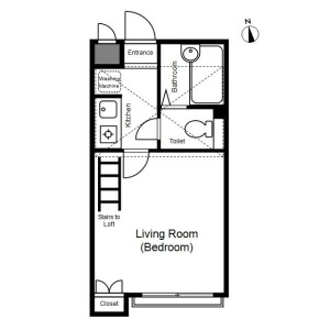 1K Mansion in Hyakunincho - Shinjuku-ku Floorplan
