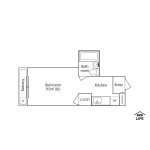 1K Mansion in Sagamihara - Sagamihara-shi Chuo-ku Floorplan