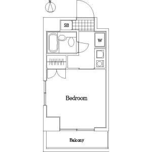 1K Mansion in Suidocho - Shinjuku-ku Floorplan