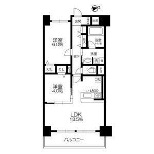 2LDK Mansion in Nippombashihigashi - Osaka-shi Naniwa-ku Floorplan