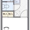 在福岡市早良区内租赁1K 公寓 的 楼层布局