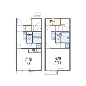 1K Apartment in Hirao - Fukuoka-shi Chuo-ku Floorplan