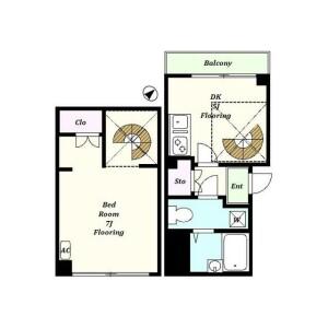 1DK Mansion in Ichigayatamachi - Shinjuku-ku Floorplan
