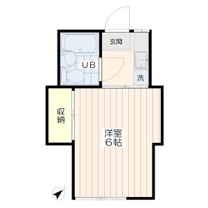 1K Apartment in Inokashira - Mitaka-shi Floorplan