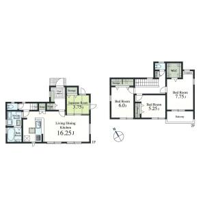 4LDK {building type} in Kumegawacho - Higashimurayama-shi Floorplan