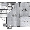 1LDK Apartment to Rent in Toyonaka-shi Floorplan