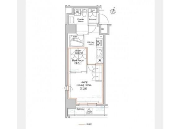 在澀谷區內租賃2K 公寓大廈 的房產 房間格局