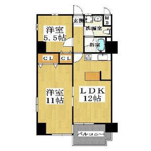 2LDK Mansion in Oimazatonishi - Osaka-shi Higashinari-ku Floorplan