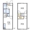 在福岡市東区内租赁2DK 公寓 的 楼层布局