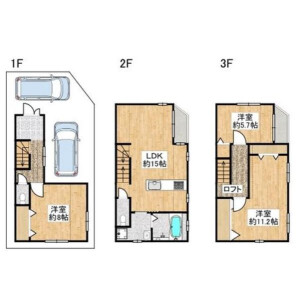 3LDK {building type} in Tamadenaka - Osaka-shi Nishinari-ku Floorplan