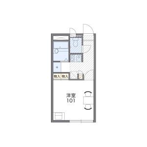 尼崎市次屋-1K公寓 楼层布局