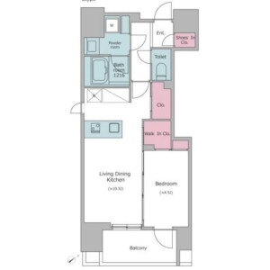 1LDK Mansion in Shitaya - Taito-ku Floorplan