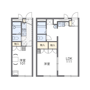 1K Apartment in Maenocho - Itabashi-ku Floorplan