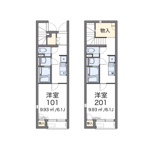 1K Apartment in Higashiogu - Arakawa-ku Floorplan