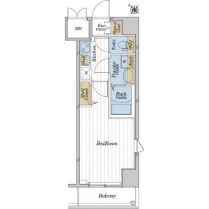 1K Mansion in Nihombashikoamicho - Chuo-ku Floorplan