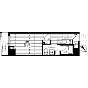 1K Mansion in Kamiuma - Setagaya-ku Floorplan