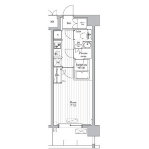 1K Mansion in Shimo - Kita-ku Floorplan
