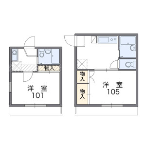 1K Mansion in Shibahinotsume - Kawaguchi-shi Floorplan