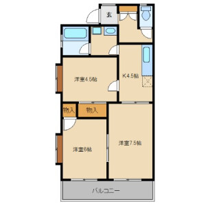 3DK Apartment in Arima - Kawasaki-shi Miyamae-ku Floorplan